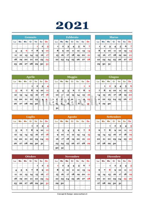 Come Creare Un Calendario 2021 Scarica il calendario 2021 da stampare