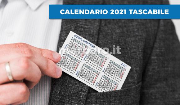 Calendario Tascabile 2021 Pdf Calendario 2021 tascabile in PDF da scaricare e stampare
