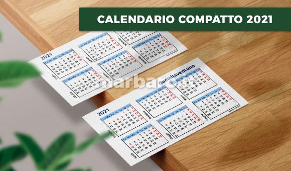 Calendario compatto 2021 da stampare: scarica ora il PDF