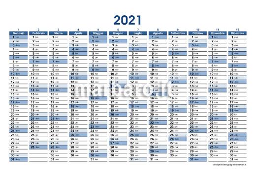 Planner 2021 da scaricare in PDF e stampare