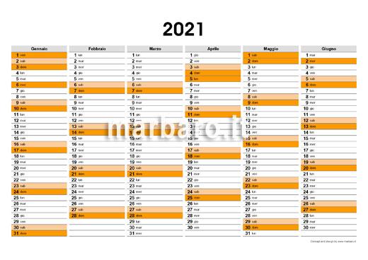 Calendario 2021 Planning Da Stampare Gratis Planner 2021 da stampare gratis