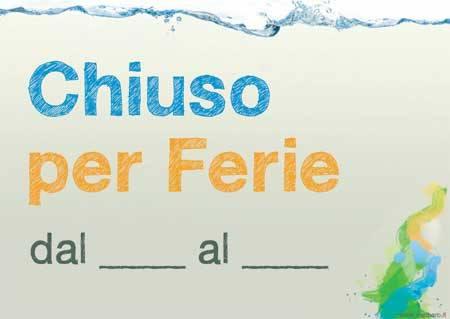 CHIUSO PER FERIE - BUONE VACANZE, GIF E CARD, ANIMATE E NON