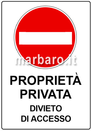 Segnali divieto da stampare pdf