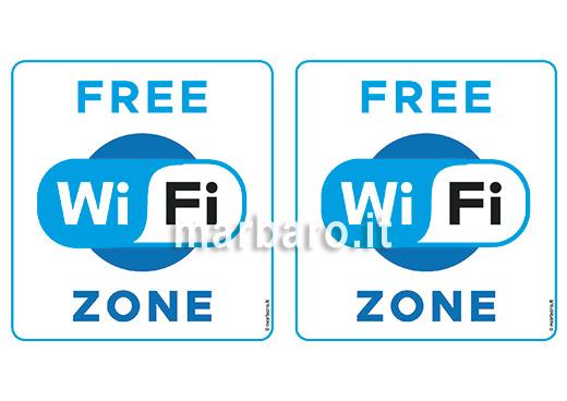 Cartello Free WiFi Zone in PDF
