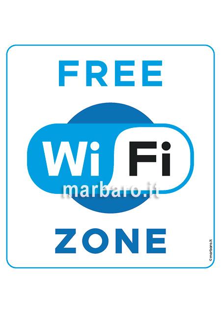 Scarica il PDF del cartello Free WiFi Zone
