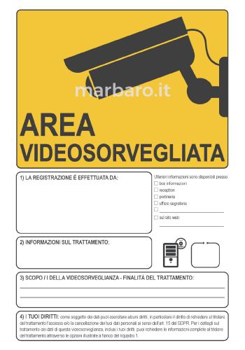 Segnaletica per videosorveglianza in PDF da stampare