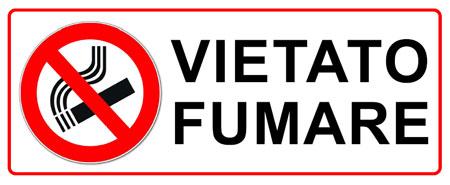 cartelli vietato fumare da
