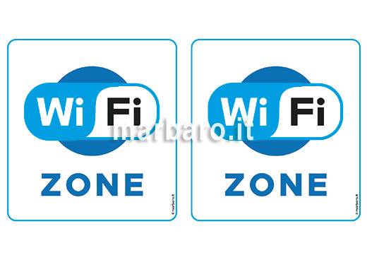 Cartello WiFi Zone da stampare