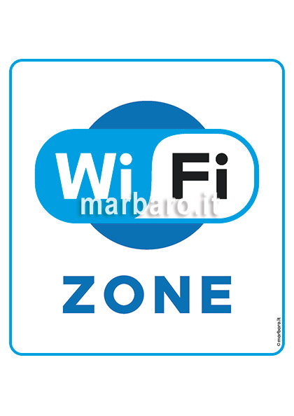 Cartello WiFi Zone da stampare in PDF