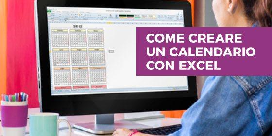 Come creare un calendario con Excel