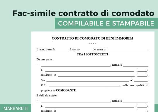 Contratto per comodato d uso tovaglioli di carta for Comodato gratuito imu