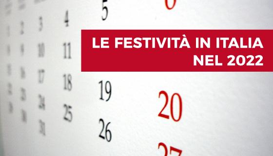 Festività 2022 Italia