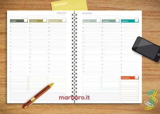 Fogli per agenda settimanale da stampare scarica il pdf - Fogli da colorare per la marmotta diurna ...
