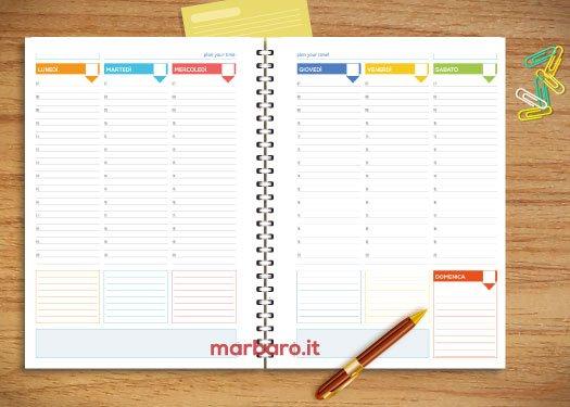 Fogli per agenda settimanale da stampare scarica il pdf - Stampare pagine da colorare ...