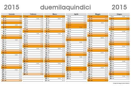 Calendario Con Numero Giorni.Planner 2015 Calendario Planner 2015 Da Scaricare Gratis
