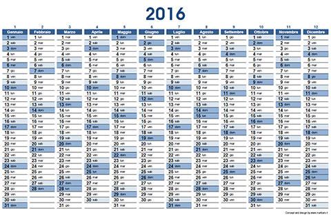 Calendario Marbaro.Calendario 2016 In Pdf Da Stampare Space Total