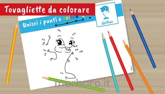 Tovagliette con disegni da colorare e stampare